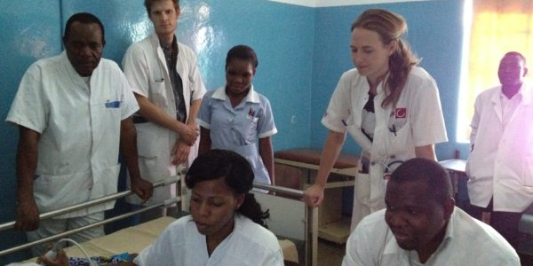 Irene at work in Zambia at Saint Francis Hospital