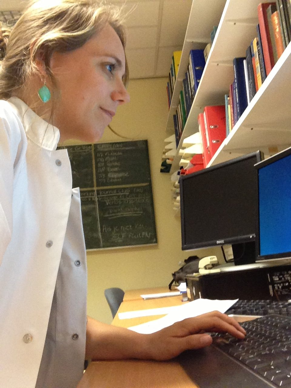 Photo 1: Miranda at work in the Erasmus MC as paediatrics resident.